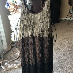 Fringe multi color party dress